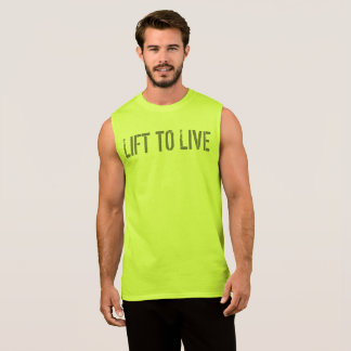 LIFT TO LIVE GYM and Fitness Motivational Sleeveless Shirt