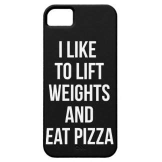 Lift Weights and Eat Pizza - Carbs - Funny Novelty iPhone SE/5/5s Case