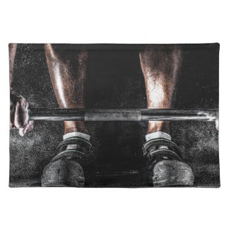 Lift Weights Cloth Placemat