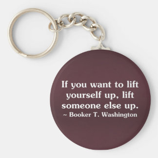 Lift yourself by lifting others (2) keychain
