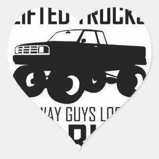 Lifted Trucks Heart Sticker