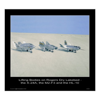 Lifting Bodies on Rogers Dry Lakebed Poster