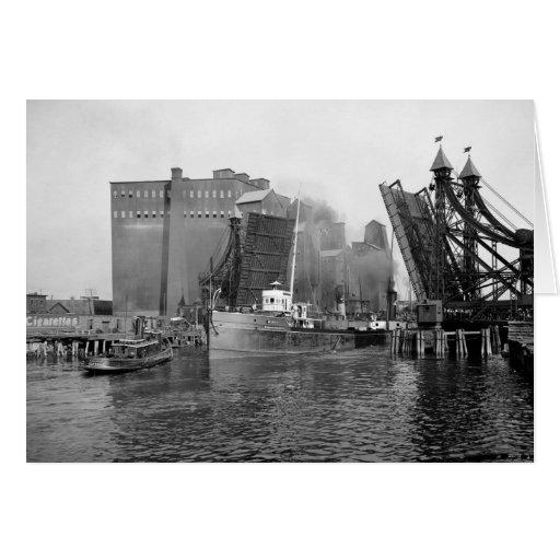Lifting Bridge, Buffalo, NY: 1900 Card
