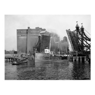 Lifting Bridge, Buffalo, NY: 1900 Postcard