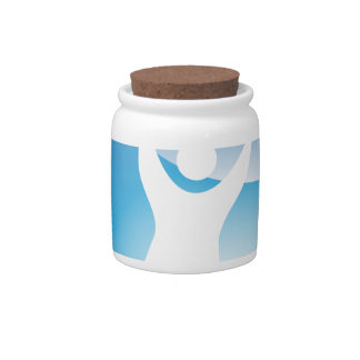 Lifting Exercise Ball Man Icon Candy Dish