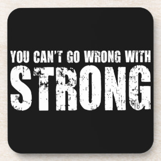 Lifting Gym Motivation - Strong Coaster