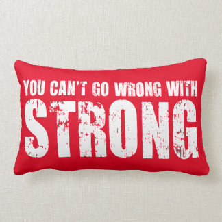 Lifting Gym Motivation - Strong Lumbar Pillow