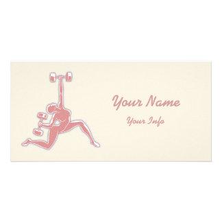 Lifting Lady Card