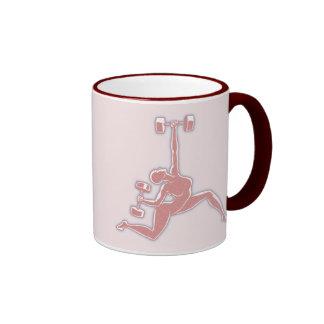 Lifting Lady Ringer Mug
