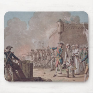 Lifting of the Siege of Pondicherry, 1748, engrave Mouse Pad