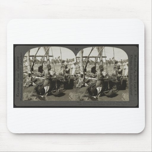 Lifting Water out of the Nile in Egypt circa 1928 Mouse Pad