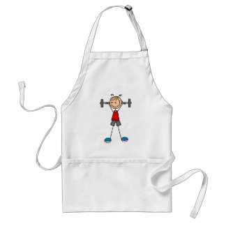 Lifting Weights Adult Apron