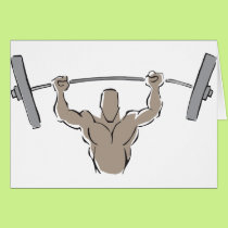 Lifting Weights Card