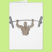 Lifting Weights Card