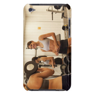 Lifting weights in the gym barely there iPod cases