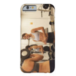 Lifting weights in the gym barely there iPhone 6 case