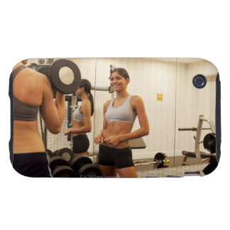 Lifting weights in the gym iPhone 3 tough covers