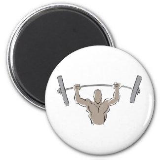 Lifting Weights Fridge Magnets