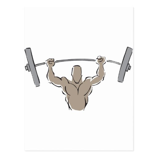 Lifting Weights Post Card