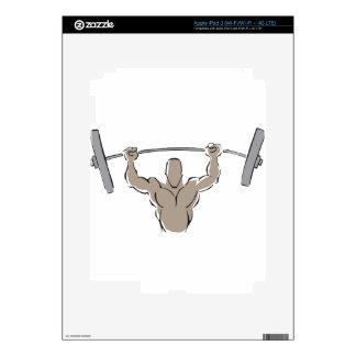 Lifting Weights iPad 3 Decal