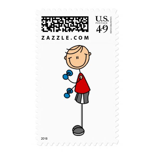Lifting Weights Tshirts and Gifts Postage Stamp