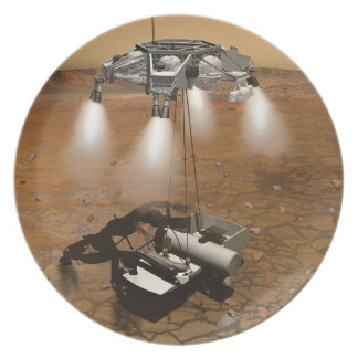 Liftoff From Martian Surface In Art Melamine Plate