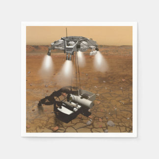 Liftoff From Martian Surface In Art Napkin