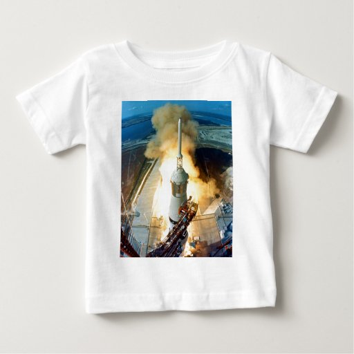 Liftoff of the Apollo 11 Saturn V Space Vehicle Baby T-Shirt