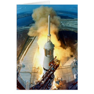 Liftoff of the Apollo 11 Saturn V Space Vehicle Greeting Card