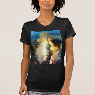 Liftoff of the Apollo 11 Saturn V Space Vehicle Shirts