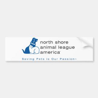 Liga animal de la orilla del norte calificada pegatina de parachoque