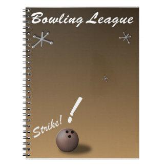 Liga de bolos cuaderno