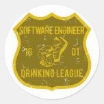 Liga de consumición de la Software Engineer Pegatina