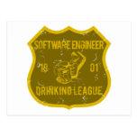 Liga de consumición de la Software Engineer Tarjetas Postales
