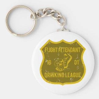 Liga de consumición del asistente de vuelo llavero redondo tipo pin