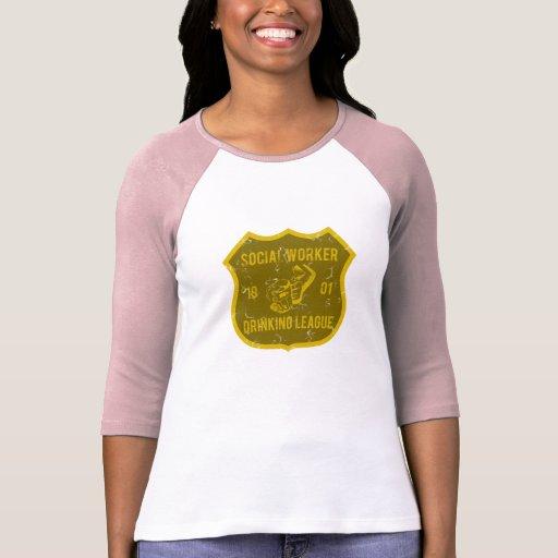 Liga de consumición del asistente social camiseta