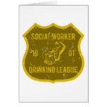 Liga de consumición del asistente social tarjetas