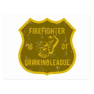 Liga de consumición del bombero postales