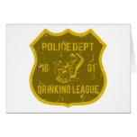Liga de consumición del departamento de la policía felicitaciones