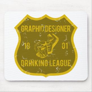 Liga de consumición del diseñador gráfico alfombrillas de ratón