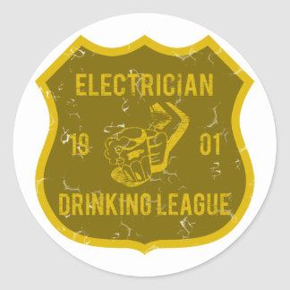Liga de consumición del electricista pegatina redonda