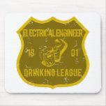 Liga de consumición del ingeniero eléctrico alfombrilla de ratón