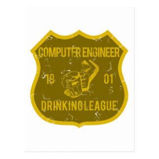 Liga de consumición del ingeniero informático tarjetas postales