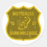 Liga de consumición del motocrós etiqueta redonda