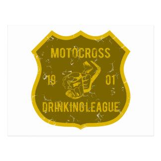 Liga de consumición del motocrós tarjeta postal