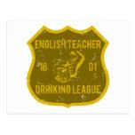 Liga de consumición del profesor de inglés tarjeta postal