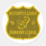 Liga de consumición del profesor de la historia etiqueta