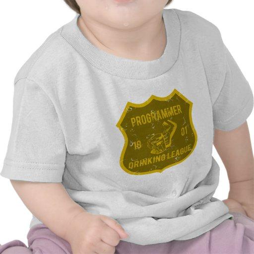 Liga de consumición del programador camiseta
