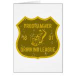 Liga de consumición del programador tarjetón
