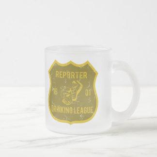 Liga de consumición del reportero tazas